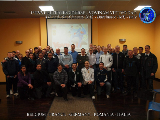 1st EVVF Referees Course Vovinam-Viet Vo Dao, 14-15 January in Milano, Italy
